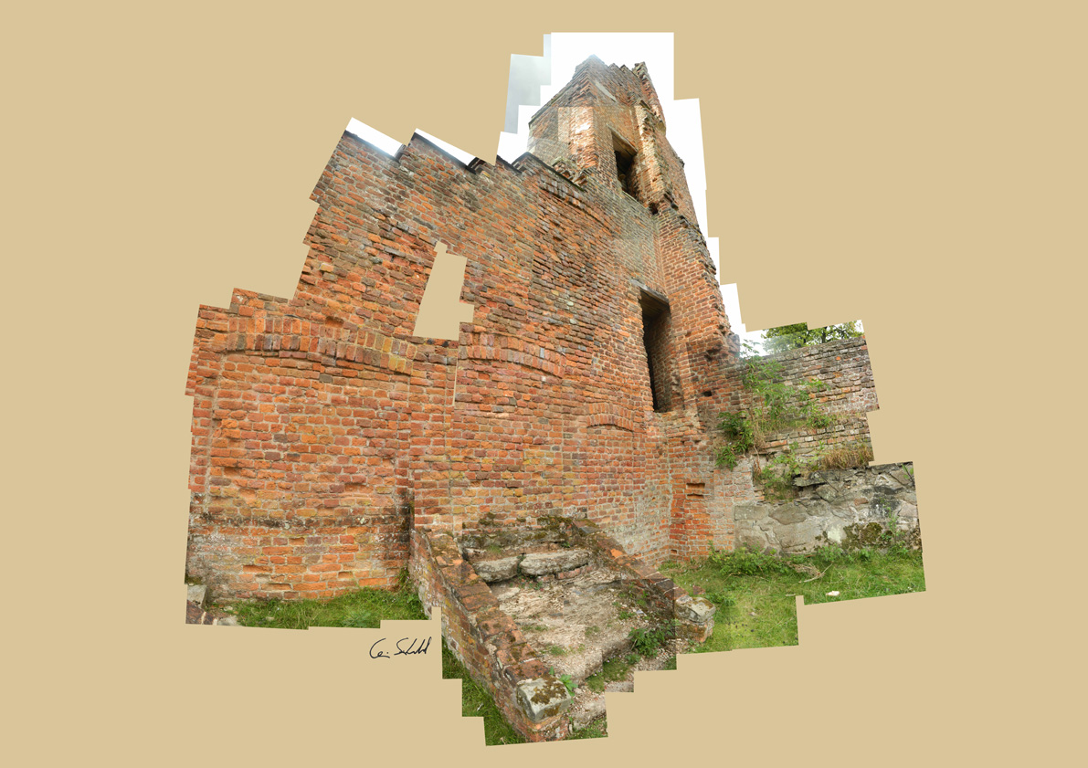 Garderobe Tower - Bradgate House Ruins WP